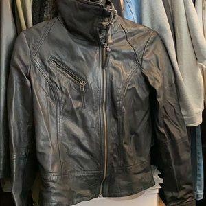 All Saints Belvedere leather Jacket US 4